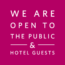 We are open to the public & hotel guests